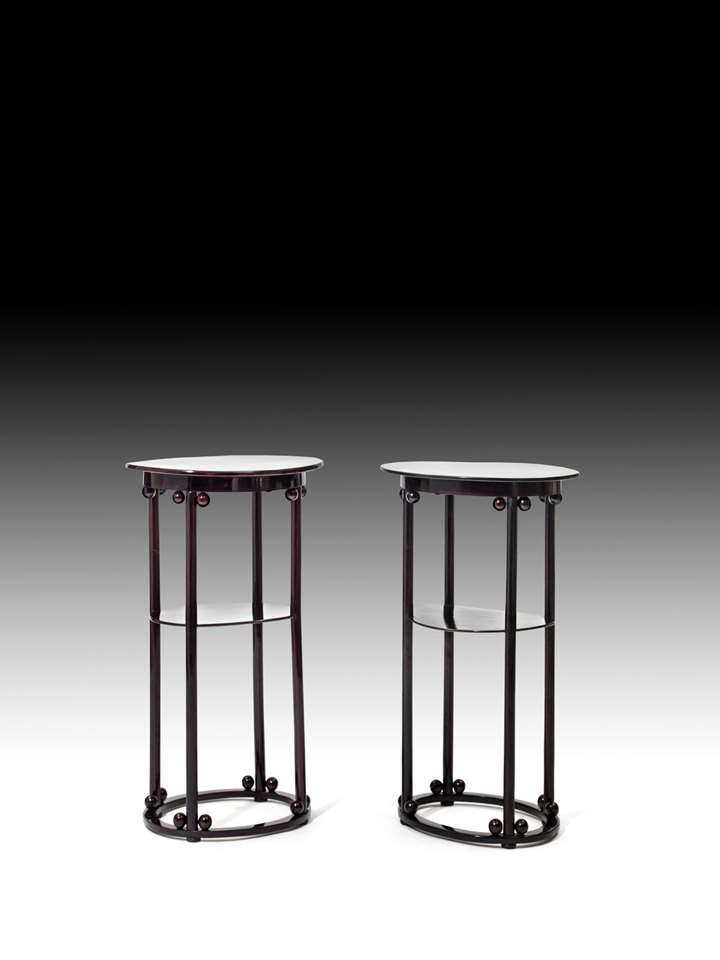 A PAIR OF SIDE TABLES